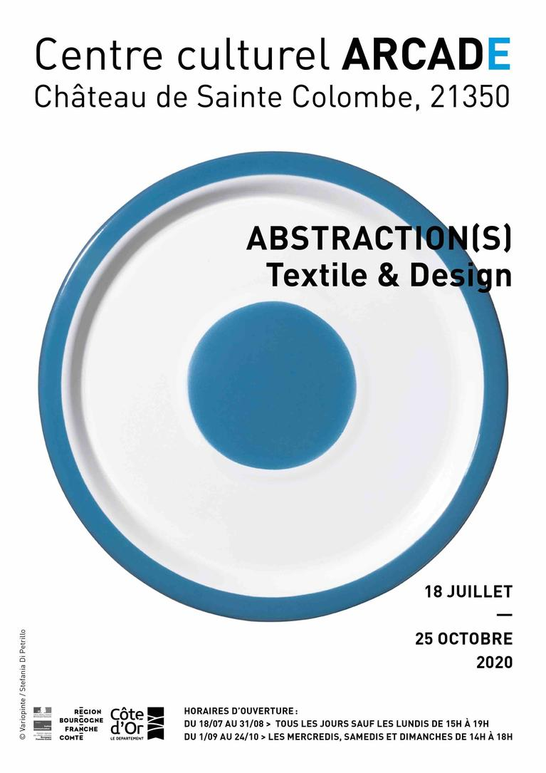 Affiche 2020 Abstraction(s), Textile et design