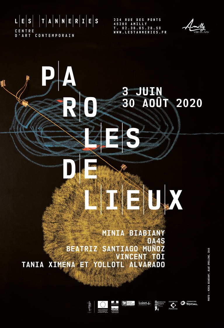 "Affiche officielle de l'exposition ""Paroles de lieux"""