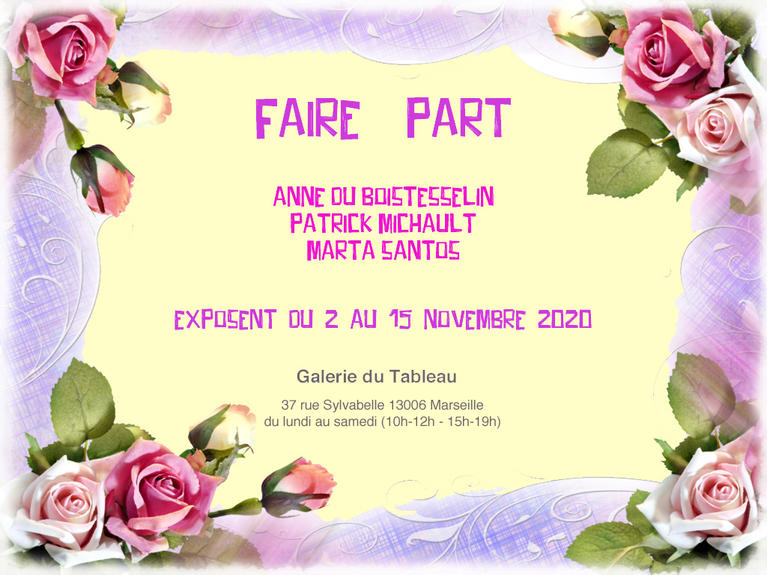 "Invitation exposition ""Faire part"""