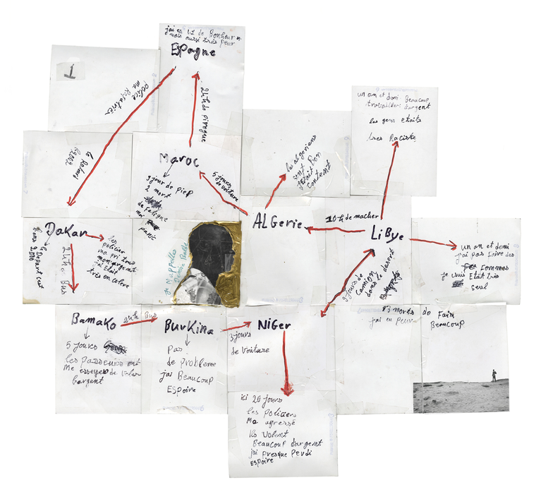 Jim Goldberg, Demba's Map, 2008-2012