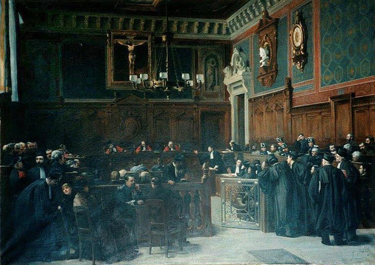 Un Proces Aux Assises A La Fin Du Xixe Siecle A Propos D Un Tableau D Armand Eugene Bach Cnap