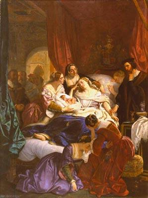 Eugène Deveria, La Mort de Jane Seymour, 1847