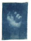 Adam Jeppesen, Work no.133 (the pond), 2019, Cyanotype sur lin, 109.5 x 74.5 cm